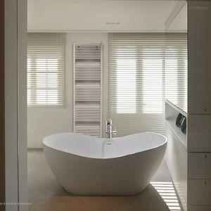 hot water towel radiator / steel / stainless steel / chrome