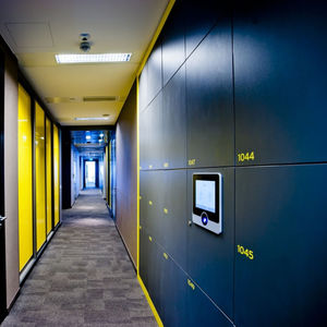laminate locker / combination / for public buildings / for office