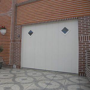 sliding garage doors / aluminum / stainless steel / polyurethane foam