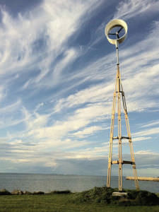 self-supporting wind turbine pole