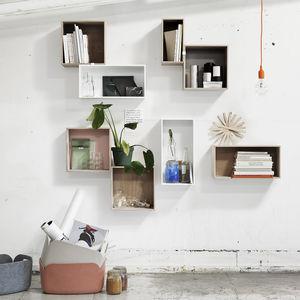 modular shelf / contemporary / MDF / ash
