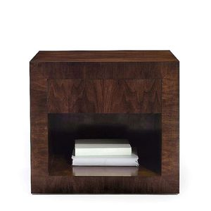 contemporary bedside table / walnut / rectangular / residential