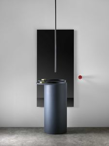 multi-person washbasin / free-standing / round / resin