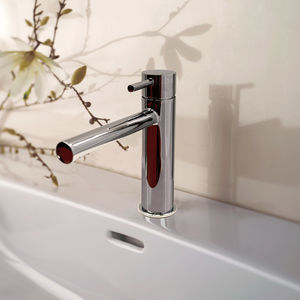 washbasin mixer tap / chromed metal / Swarovski® crystal / mechanical