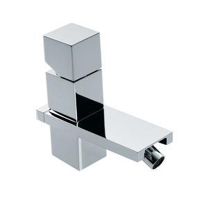bidet mixer tap / chromed metal / Swarovski® crystal / mechanical