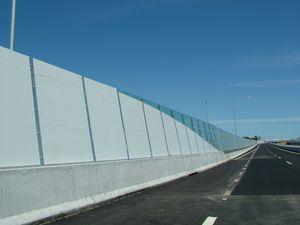 bridge construction noise barrier