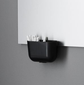 plastic storage box / powder-coated steel