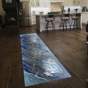 glass raised access floor