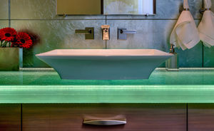 glass vanity top / custom / backlit