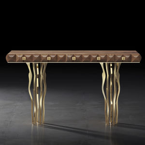 original design sideboard table / solid wood / American walnut / nickel