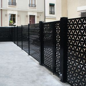 fence with panels