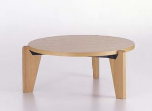 contemporary coffee table / oak / solid wood / American walnut
