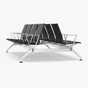 steel beam chairs / aluminum / leather / polyurethane