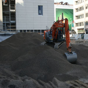 expanded clay / for concrete / light aggregate