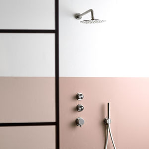 recessed wall shower set / wall-mounted / contemporary / for hotel