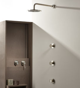 recessed wall shower set / wall-mounted / contemporary / commercial
