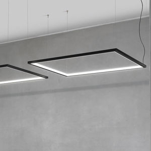 hanging light fixture / LED / linear / round