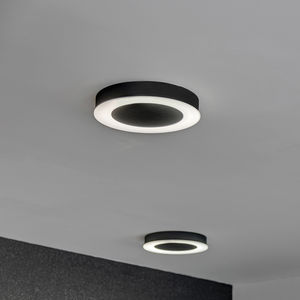 contemporary ceiling light / round / sheet metal / polycarbonate