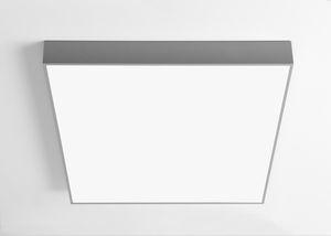 contemporary ceiling light / rectangular / plastic / fluorescent