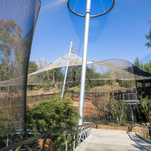 wire mesh-and-cable tensile structure / roof / for shelters / for public spaces