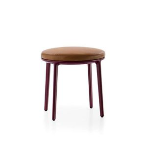 contemporary stool / fabric / cast aluminum / upholstered