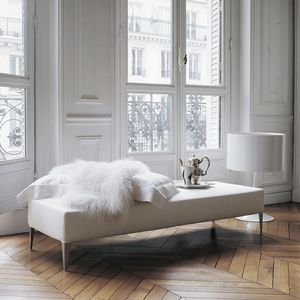 contemporary upholstered bench / fabric / leather / by Antonio Citterio