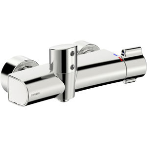 shower mixer tap / wall-mounted / brass / electronic
