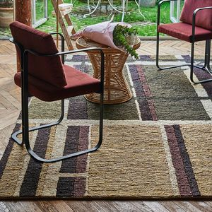 contemporary rug / striped / hemp / rectangular