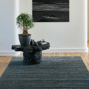 contemporary rug / striped / wool / bamboo fiber