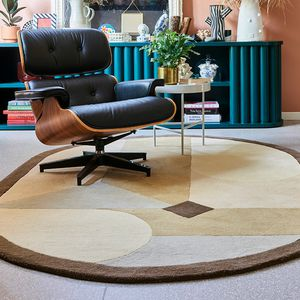 contemporary rug / patterned / wool / oval