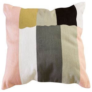 square cushion / rectangular / striped / cotton