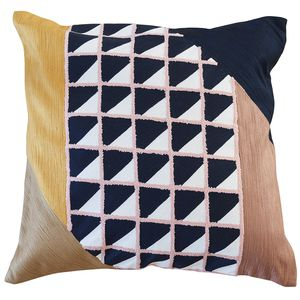 rectangular cushion / square / patterned / cotton