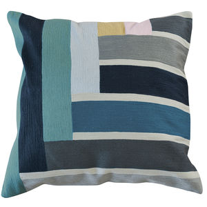 square cushion / rectangular / patterned / cotton