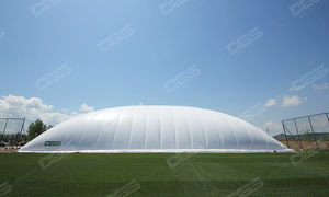 tensile dome / roof / with PVC membrane / for public spaces