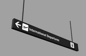 orientation signage plate / tourist / suspended / polycarbonate
