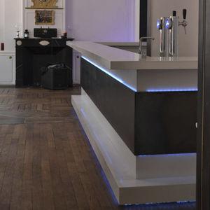 bar counter / concrete / upright / illuminated