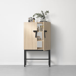 sideboard with long legs / contemporary / oak