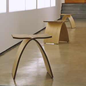contemporary stool / wooden / commercial