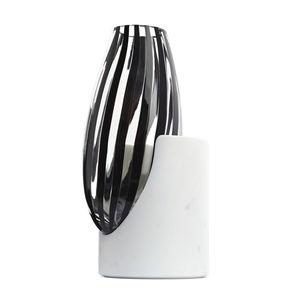 original design vase / blown glass / marble