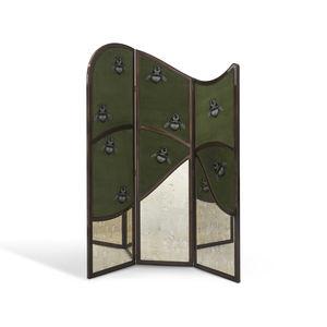 contemporary screen / wooden / fabric