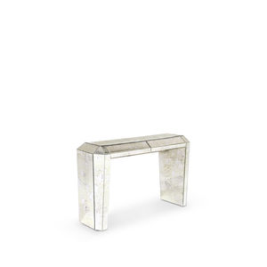 Art Deco sideboard table / glass / rectangular / with drawer