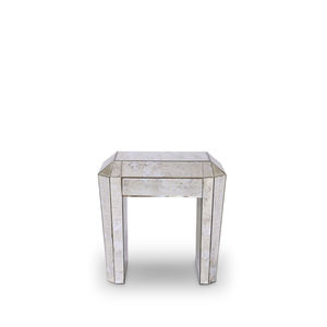 Art Deco bedside table / glass / with drawer