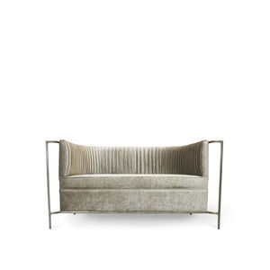traditional sofa / fabric / brass / 2-person