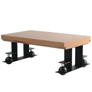 Art Deco coffee table / wooden / metal / rectangular