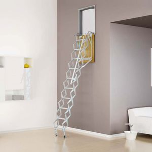 accordion protection ladder / retractable / steel