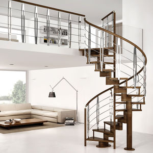 straight staircase / quarter-turn / half-turn / helical