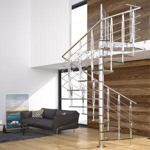 glass steps staircase