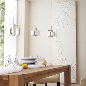 hot water radiator / electric / natural stone / contemporary