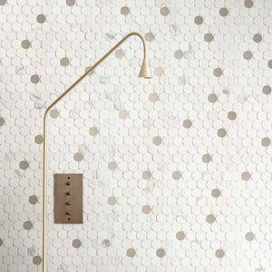 indoor tiles / wall / limestone / rectangular