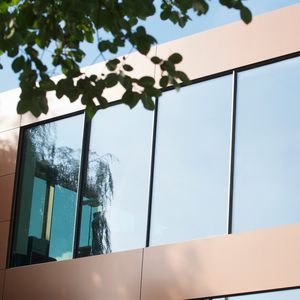 aluminum facade system / glass